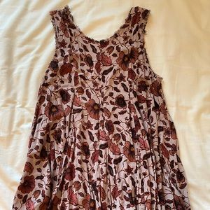 Pink Floral Flowy Dress - Ecoté - S